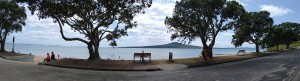 Narrow Neck beach from the funeral venue